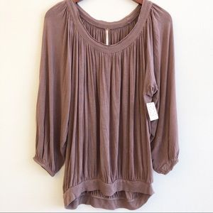 NWT FREE PEOPLE Pleated Top SZ Large